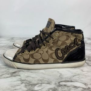 Coach Brown Women's Brown Lace Up Fashion Sneakers